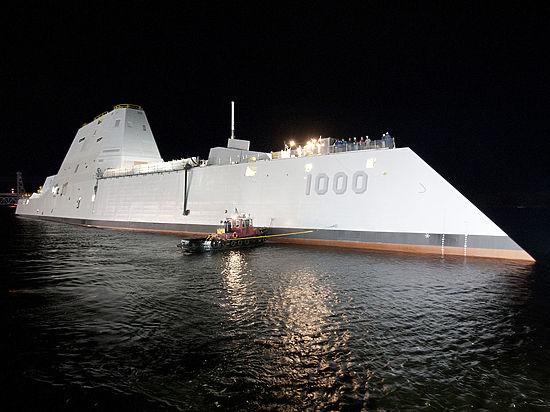 Сверхсовренный корабль был отбуксирован к причалу