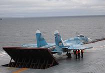 Минобороны РФ подтвердило аварию самолета ВКС РФ на палубе «Адмирала Кузнецова»: истребитель выкатился за пределы палубы крейсера