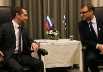 Переговоры с премьер-министром Финляндии Юха Петри Сипиля, которые прошли в небольшом финском городе Оулу, Дмитрий Медведев назвал конструктивными и позитивными