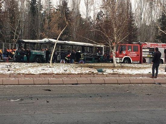 Жертвами взрыва автобуса в турецком Кайсери стали 13 человек