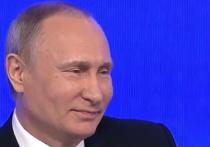 На своей ежегодной пресс-конференции президент Владимир Путин, как водится, отпускал шутки — но дозированно