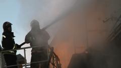 Тушение пожара на Семиреченской в Кировском округе Омска