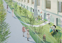 Новый проект зоны отдыха рядом с Политехническим музеем создали столичные архитекторы