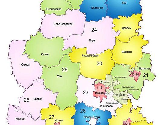 Депутаты Госсовета Удмуртии утвердили новую схему избирательных округов