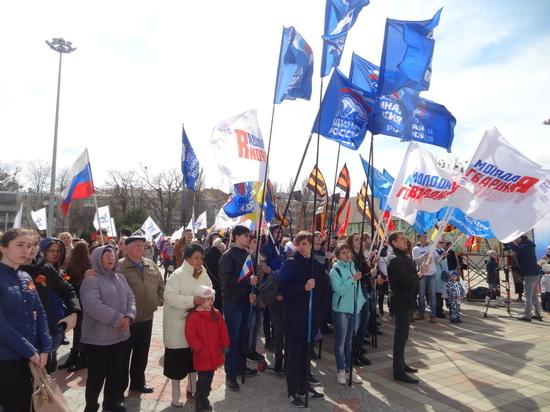 Больше четырёх тысяч горожан пришли в Ставрополе отметить Крымскую весну