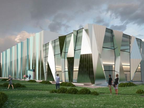 Такую иллюзию создадут зеркальные фасады здания