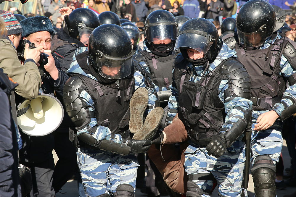 На антикоррупционном митинге в Москве задержаны сотни человек