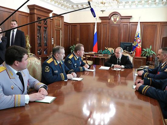 Путин похвалил Росгвардию за пресечение попыток нарушения порядка