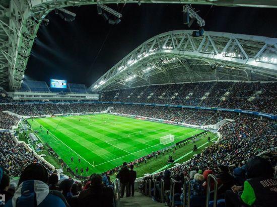 На стадионе «Фишт» сыграли первый футбольный матч
