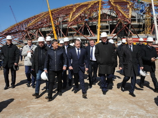 «Все как на ладони»: Михаил Бабич оценил ход строительства «Самара Арена»