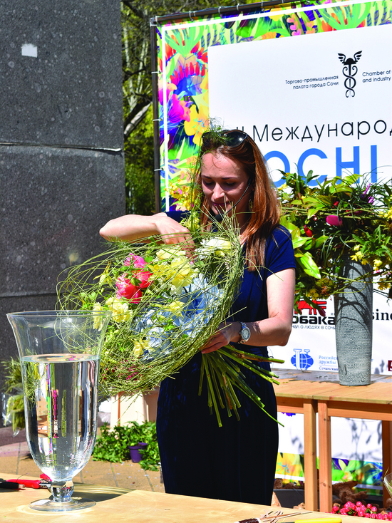 Второй международный цветочный фестиваль состоялся в Сочи