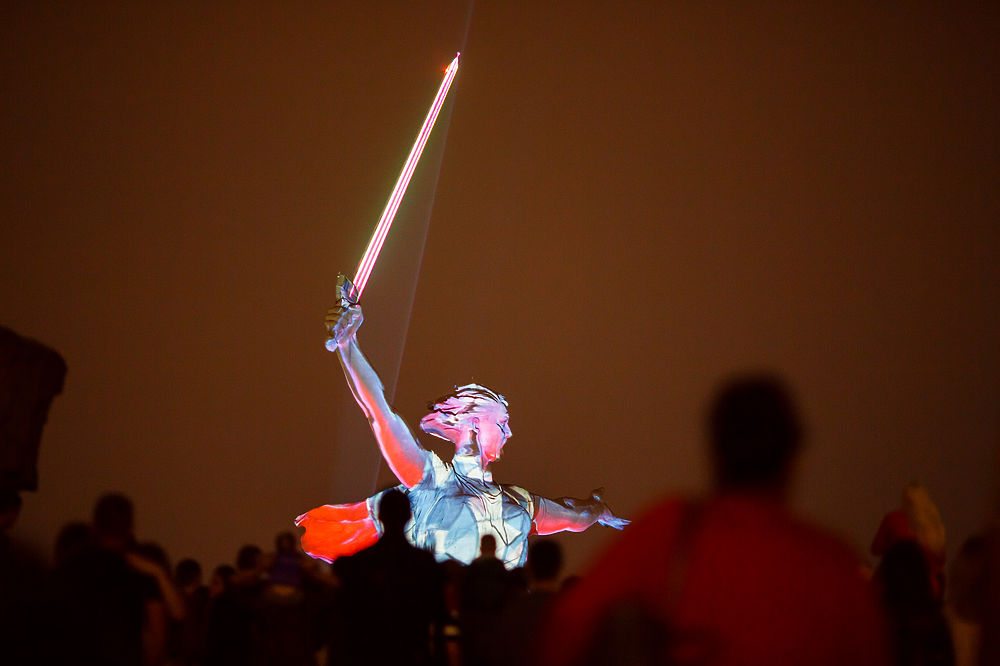 Волгоградцы увидели «Свет Великой Победы»