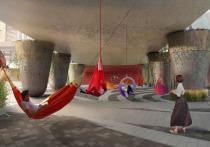 Отдыхать в буквальном смысле под мостом предложили москвичам архитекторы