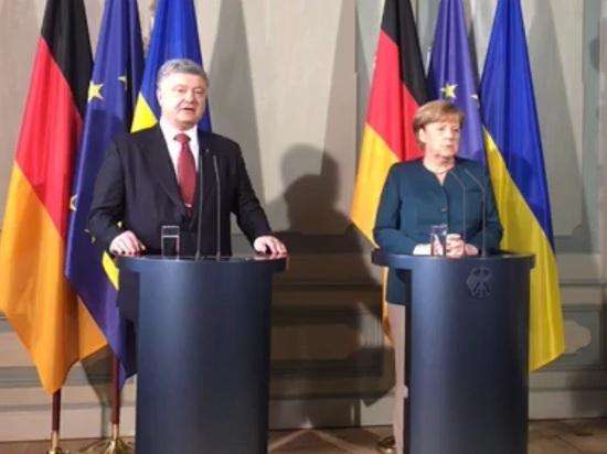 Украинский лидер отправил в Донбасс танки и полетел в Берлин - благодарить за безвиз