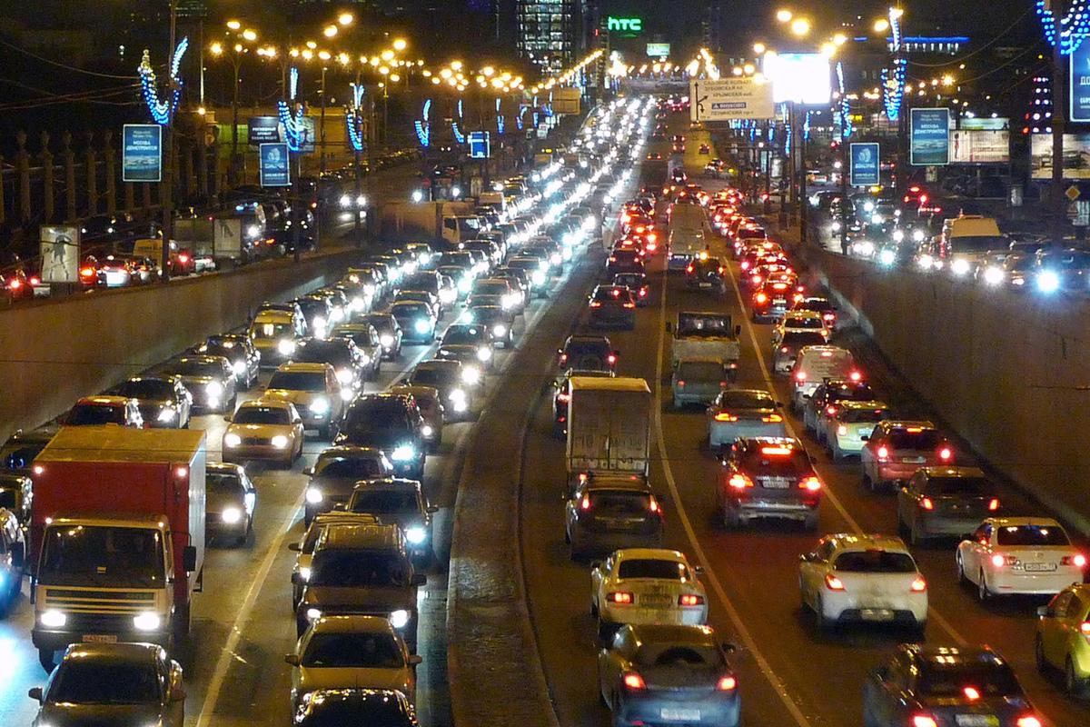 фото пробки машин с телефона