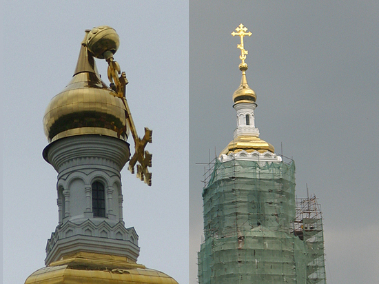 Буря покусилась на монастырское золото
