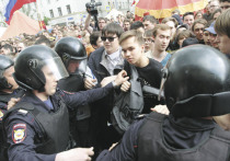 В Москве прошло 2 протестные акции — часть протестующих отправилась на проспект Сахарова, часть — на Тверскую