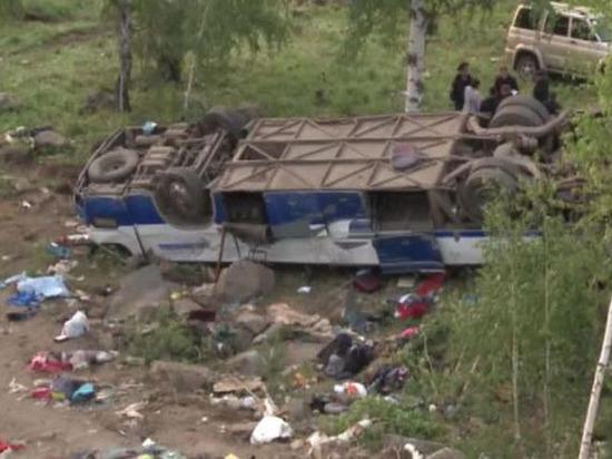 Водитель разбившегося в Забайкалье автобуса сильно гнал, 13 погибших