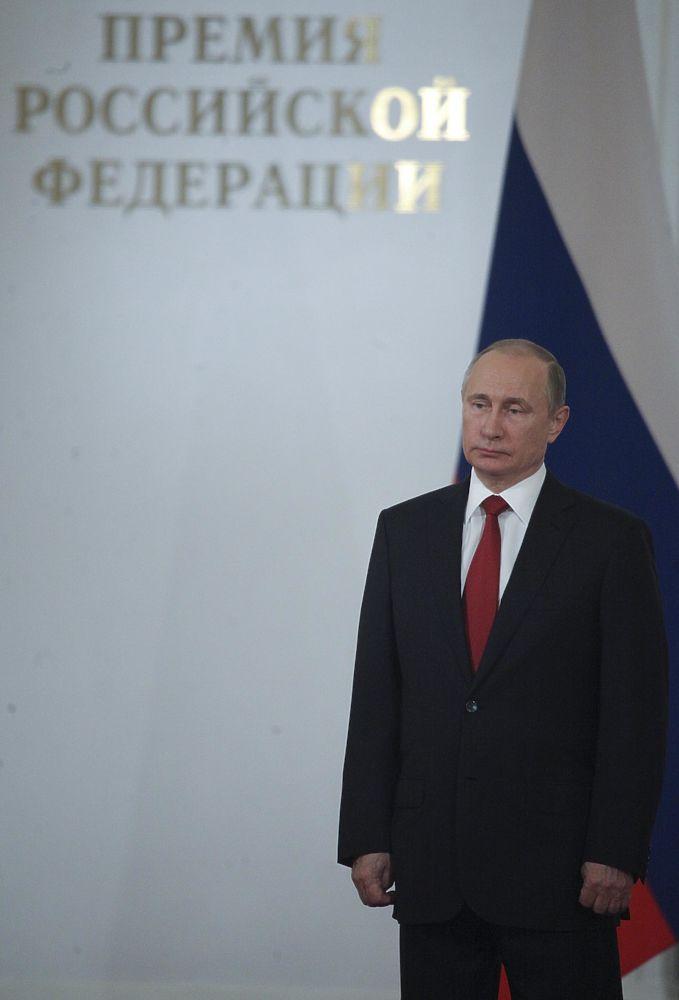 Владимир Путин на церемонии вручения госпремий процитировал Петра I