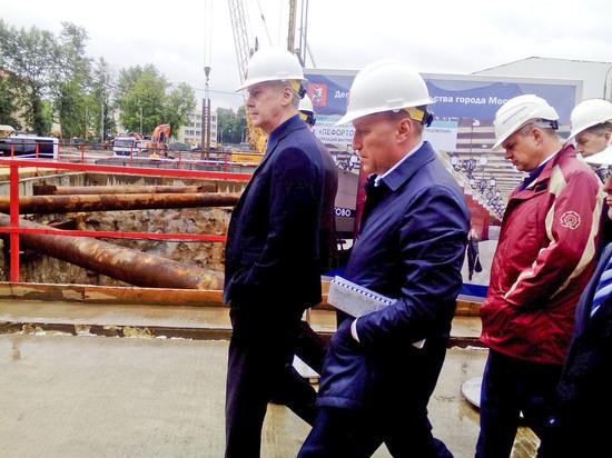 Собянин осмотрел строящуюся станцию «Лефортово» третьего пересадочного контура