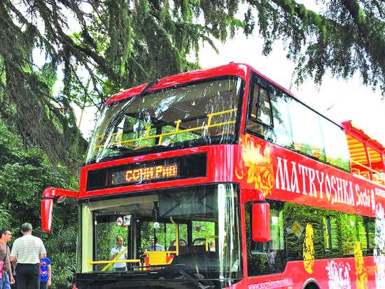 Двухэтажные автобусы  в Сочи  вышли на линию