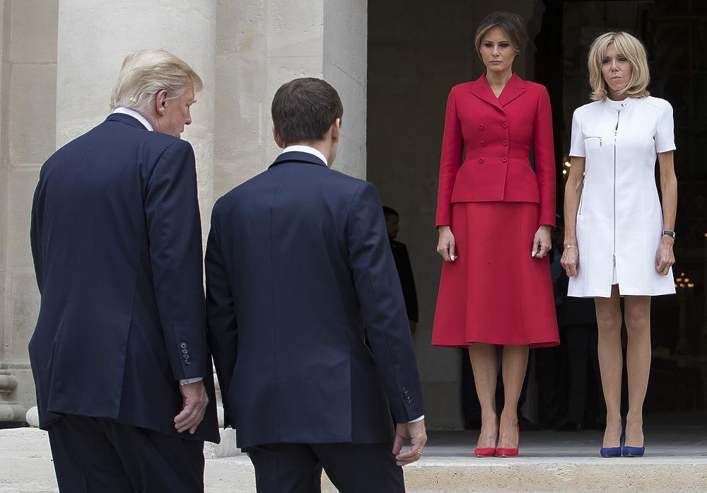 Брижит Макрон против Меланьи Трамп: президентские жены посоревновались в стиле