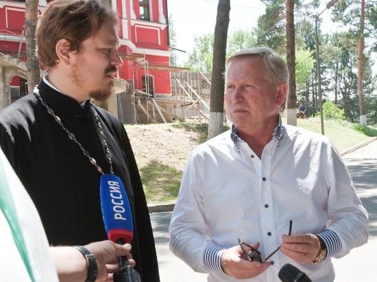 Возведение храма в курортной зоне Кисловодска проинспектировал сенатор Михаил Афанасов