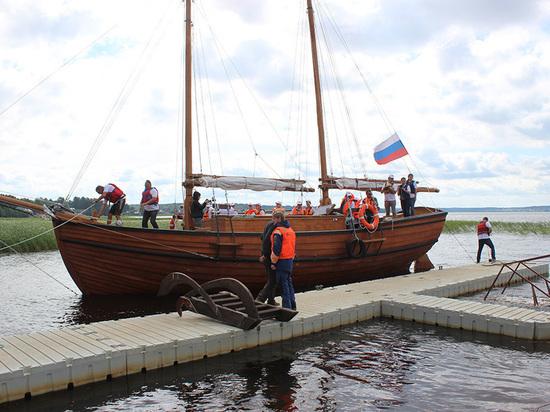 Торжественная встреча шхуны «Корабелы Прионежья» состоялась в Вытегре