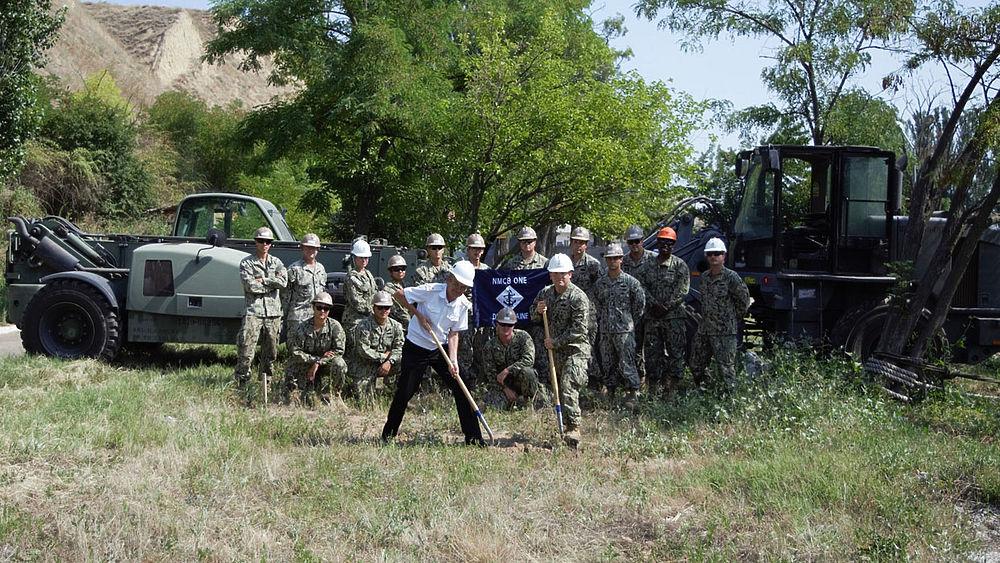 Появилось фото строительства военными США оперативного центра ВМС на Украине