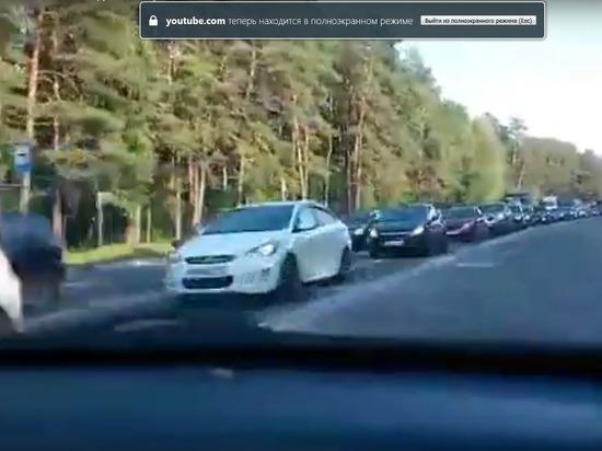 Новая проблема Калуги: главный въезд и выезд из города третий день в пробке