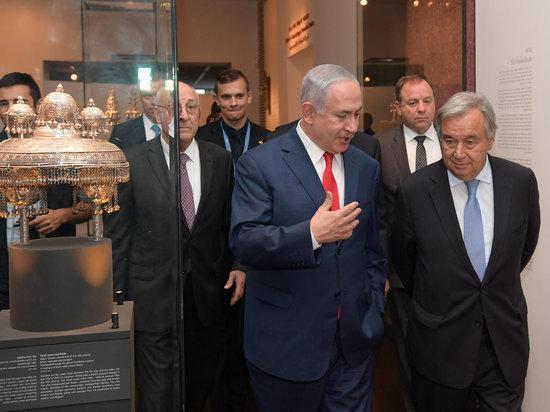 Премьер-министр Израиля  и генеральный секретарь ООН посетили выставку инноваций