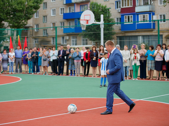 Николаевску на юбилей подарили спортплощадку