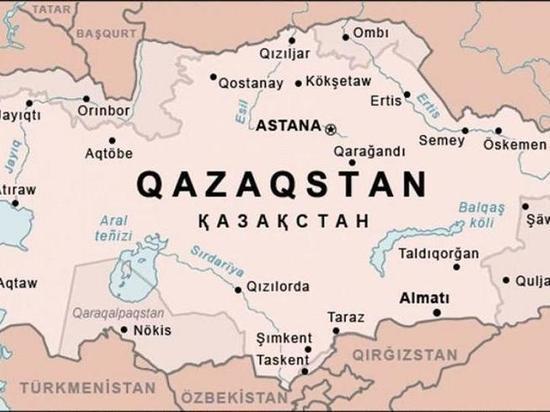 В Казахстане опубликовали карту с присоединенными к ней территориями России