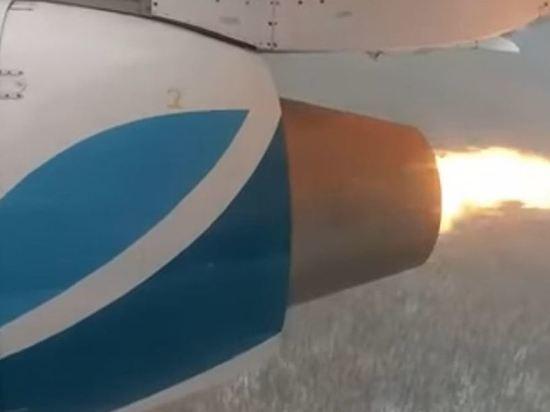 У самолета авиакомпании «Ангара» загорелся двигатель