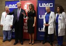 Президент Трамп выступил в роли верховного главноутешающего в Лас-Вегасе
