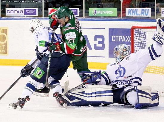 Московское «Динамо» прервало победную серию «Ак Барса»