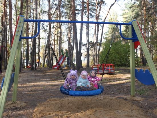 В воронежском парке «Дельфин» установили новые игровые площадки