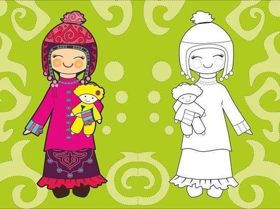 У кыргызстанских детей появились раскраски с отечественными героями