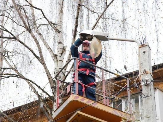 В Ярославле заменили 4526 перегоревших ламп уличного освещения