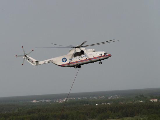 Спасатели МЧС обследовали фюзеляж потерпевшего крушение Ми-8