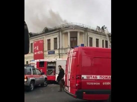 В Москве загорелся отдел личных коллекций музея имени Пушкина