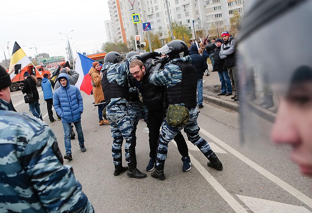 """Организаторы отменили """"Русский марш"""" в Люблино: есть задержанные"""