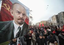 Левые отпраздновали 7 ноября: КПРФ с Удальцовым прошли одним строем