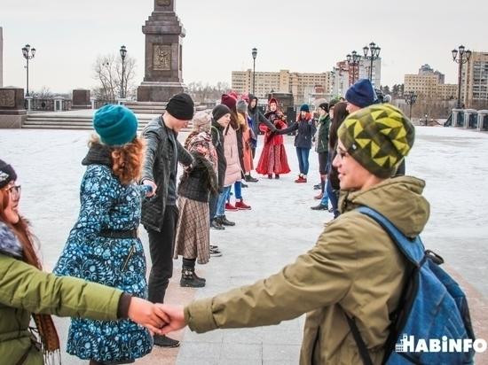 Хабаровчане «разошлись по углам» в день народного единства