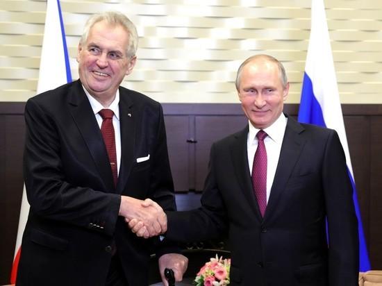 На встрече с Путиным президент Земан пожалел о Людмиле