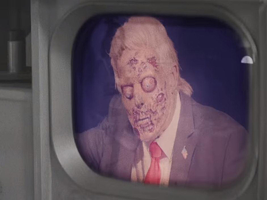 В свежем клипе музыканты показали, что президент — зомби