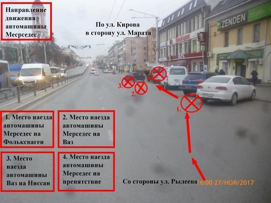 Названа причина, по которой водитель маршрутки снес машины и врезался в столб в Калуге