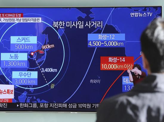 КНДР отчиталась о запуске ракеты, способной нанести удар по США