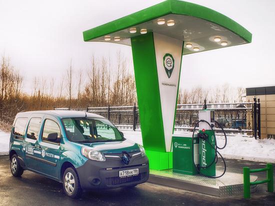 «Тюменьэнерго» запустило первуювРоссии электрическую зарядную станцию быстрого цикла отечественного производства