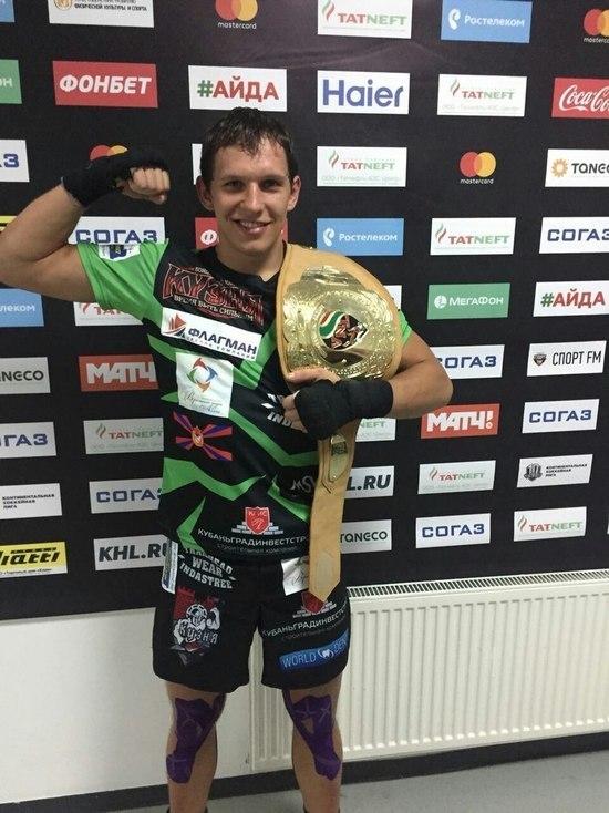Пояс чемпиона и кубок «Татнефти» привез в Краснодар Илья Фрейманов.